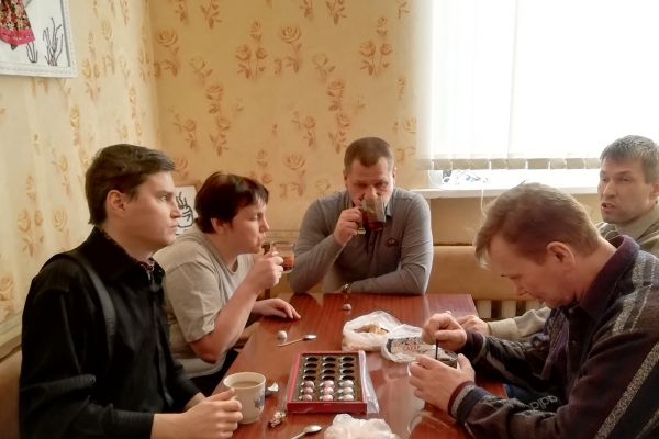 Чаепитие участников